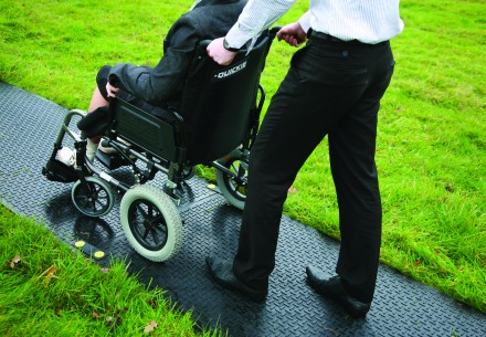 wheelchair trackway Ground-Guards protection | Ground Guards | Ground Protection Mats