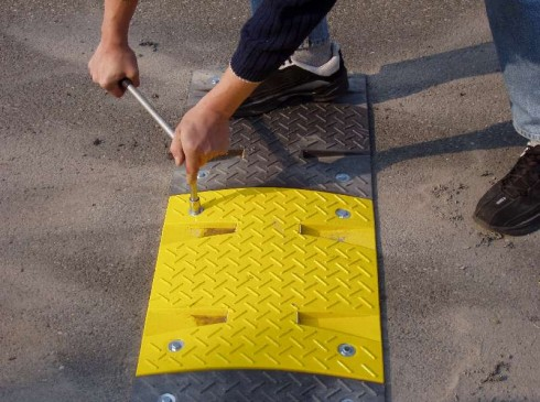 Tighten down securely |Speed Ramps are a highly visible speed controller | Ground Guards | Ground Protection Mats