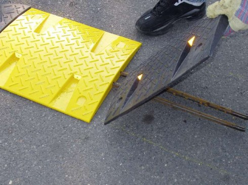 Easy to fix down |Speed Ramps are a highly visible speed controller | Ground Guards | Ground Protection Mats
