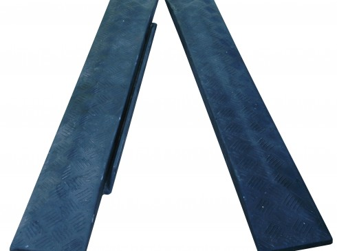 Interlocking rubber end ramps | Ground Guards | Ground Protection Mats