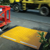 Trench-Guards ground protection mats in Hi-Vis yellow and reflective strips | Ground Guards | Ground Protection Mats