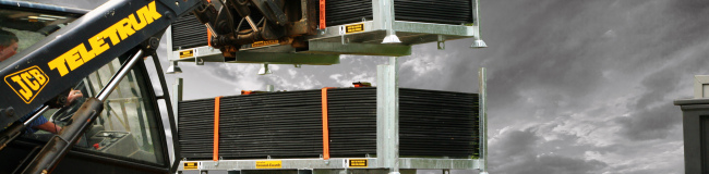 Ground-Guards Safe Store Stillage for Hire Companies | Ground Guards | Ground Protection Mats