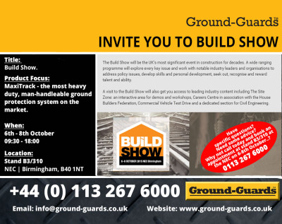 Ground-Guards Ltd Invite to the Rail Show