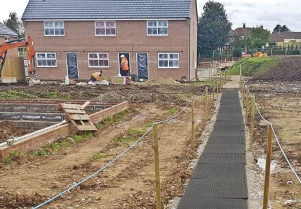 Create a temporary site walkway