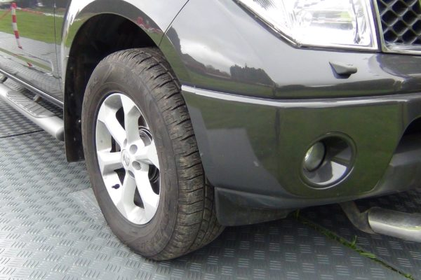 close up of mat roadway tread pattern