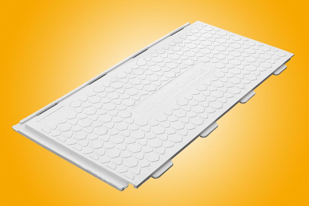 Walkway tread ground protection mat white