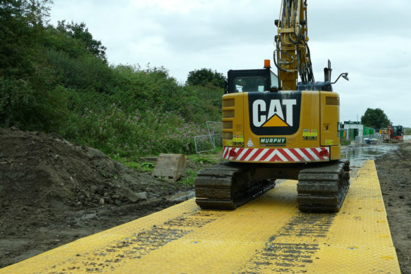 Temporary roadway for remote access