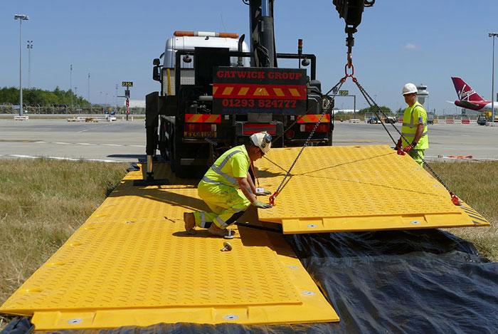 heavy duty temporary access road at airport