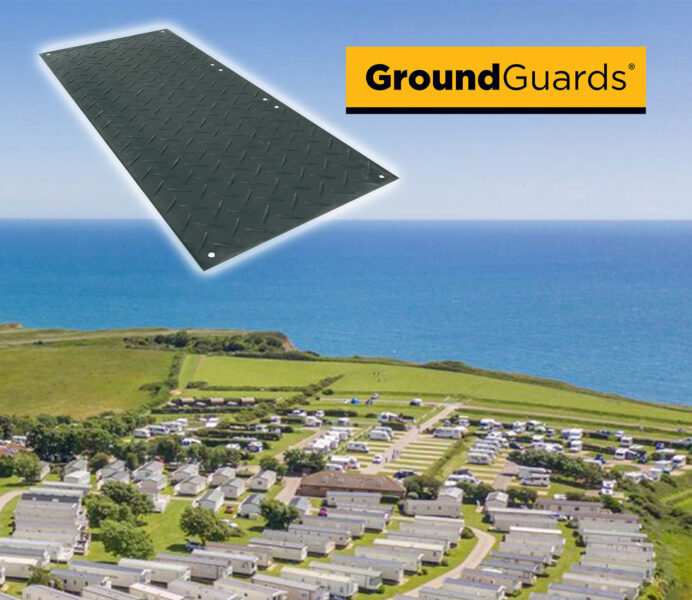 ground protection for safely siting caravans