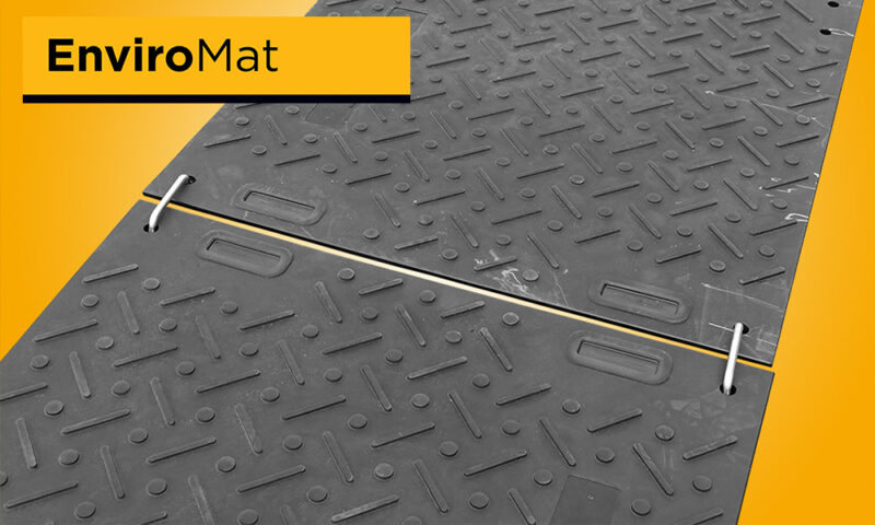simple two way joiner ground protection mat
