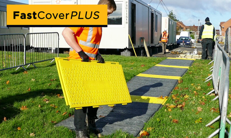 social distancing walkway yellow