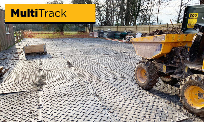 temporary access road on housebuilding site