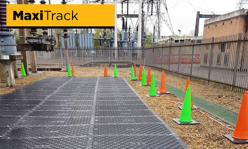 heavy duty site access road and compound electricity utilities