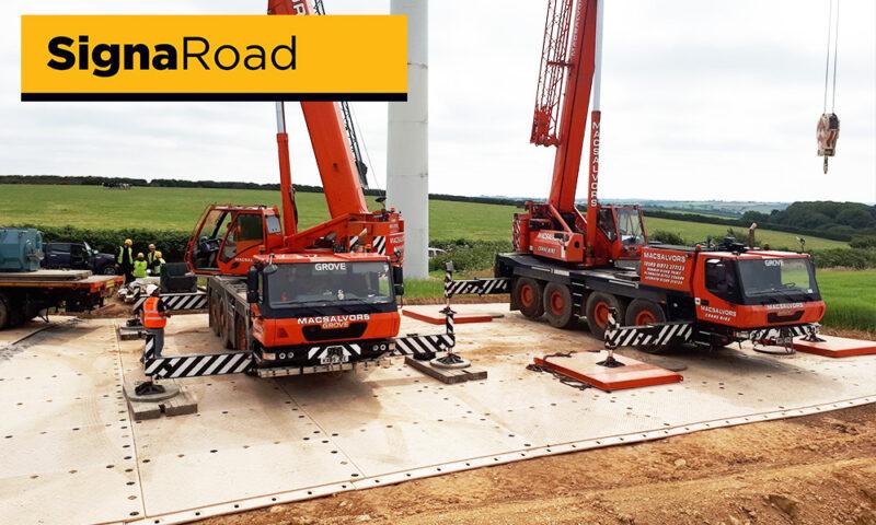 temporary crane pad remote access utilities