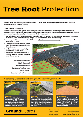 Ground grass tree root protection methodology