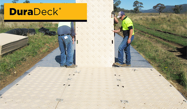 Strong roadway or walkway ground mat